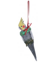 Hand Painted Cockatiel (Normal) Ornament