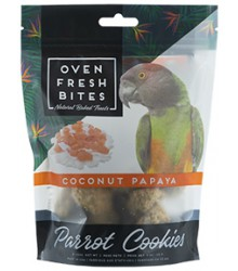 Oven Fresh Bites Parrot Cookies Coconut Papaya