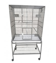 Flight Cage with Double Door & Exterior Access Food Doors